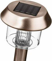 Solar-Powered LED Bronze Garden Lights, Set of 6 image 3