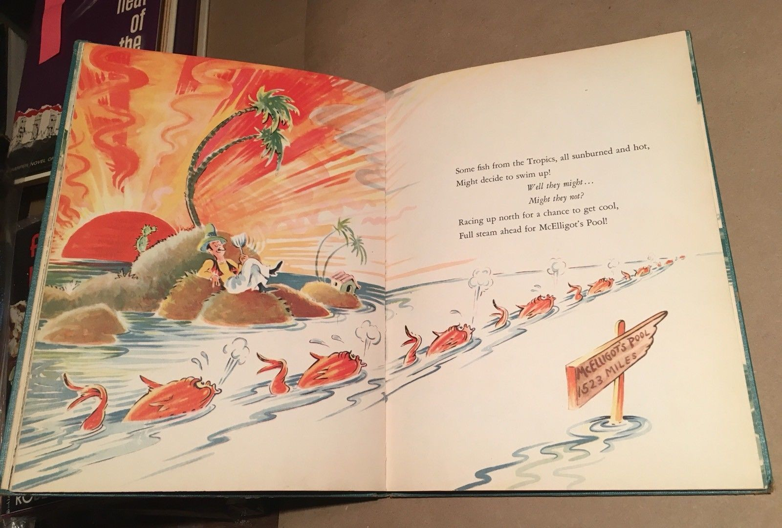 McElligot's Pool by Dr. Seuss 1947. First Edition. Variant. 7 Line Copyright.