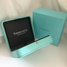 Large Tiffany & Co Blue Leather Necklace Presentation Storage Box - $249.00