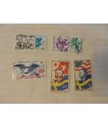 Lot of 5 Mali Stamps, 1976 American Bicentennial, 1977 Nobel Peace Prize... - $5.94