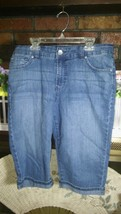 Nine West Ladies Blue Brady Capri Jeans Sz. 8 EUC - $18.49