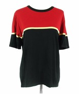 Dressbarn Size 18W 20W Short Sleeve Color Blocked Sweater Cotton Blend S... - $12.99