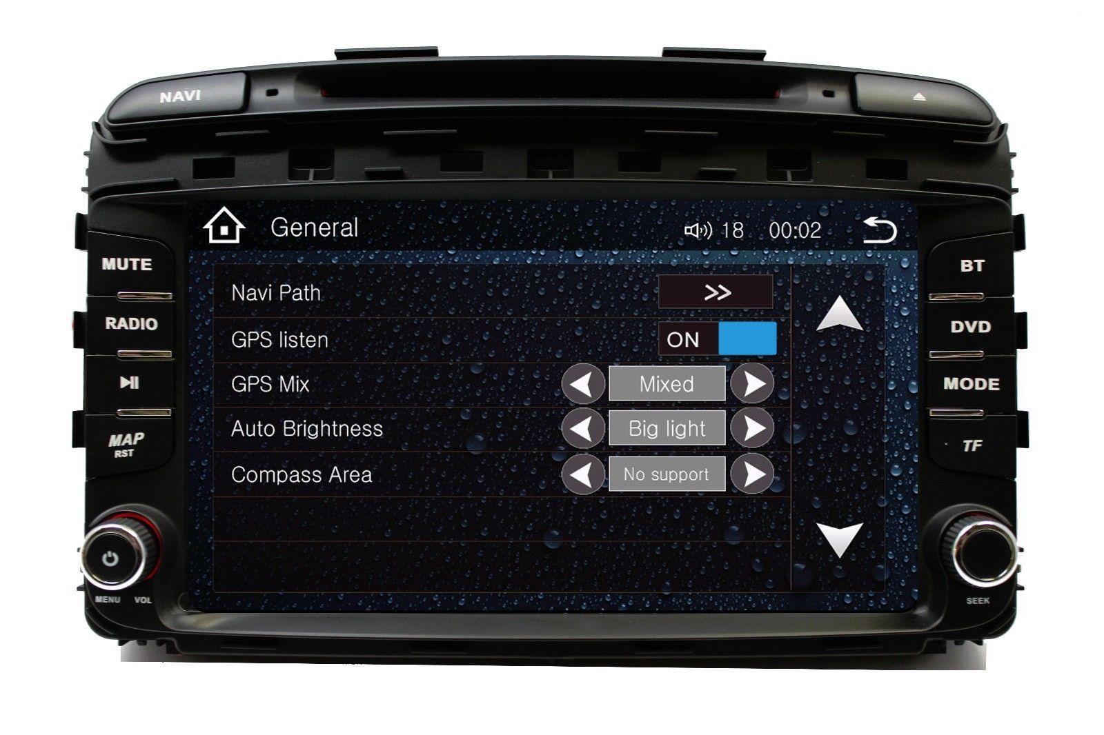 "8"" TouchScreen In Dash Car Stereo Radio DVD Player GPS Navigation KIA Sorento"