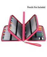 BTSKY Deluxe PU Leather Pencil Case for Colored Pencils - 160 Slot Penci... - $28.38