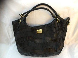 PRE OWNED/COACH/GATHERED LEATHER/MADISON/SHOULDER BAG/BLACK/15931 - $500.00