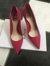 NIB 100% AUTH Christian Dior Cherie Patent Leather Pointy Pumps 8cm $650 - $398.00