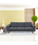 Cloud Mountain Fabric Sofa Living Room Furniture with Cushion Dark Gray - $249.99