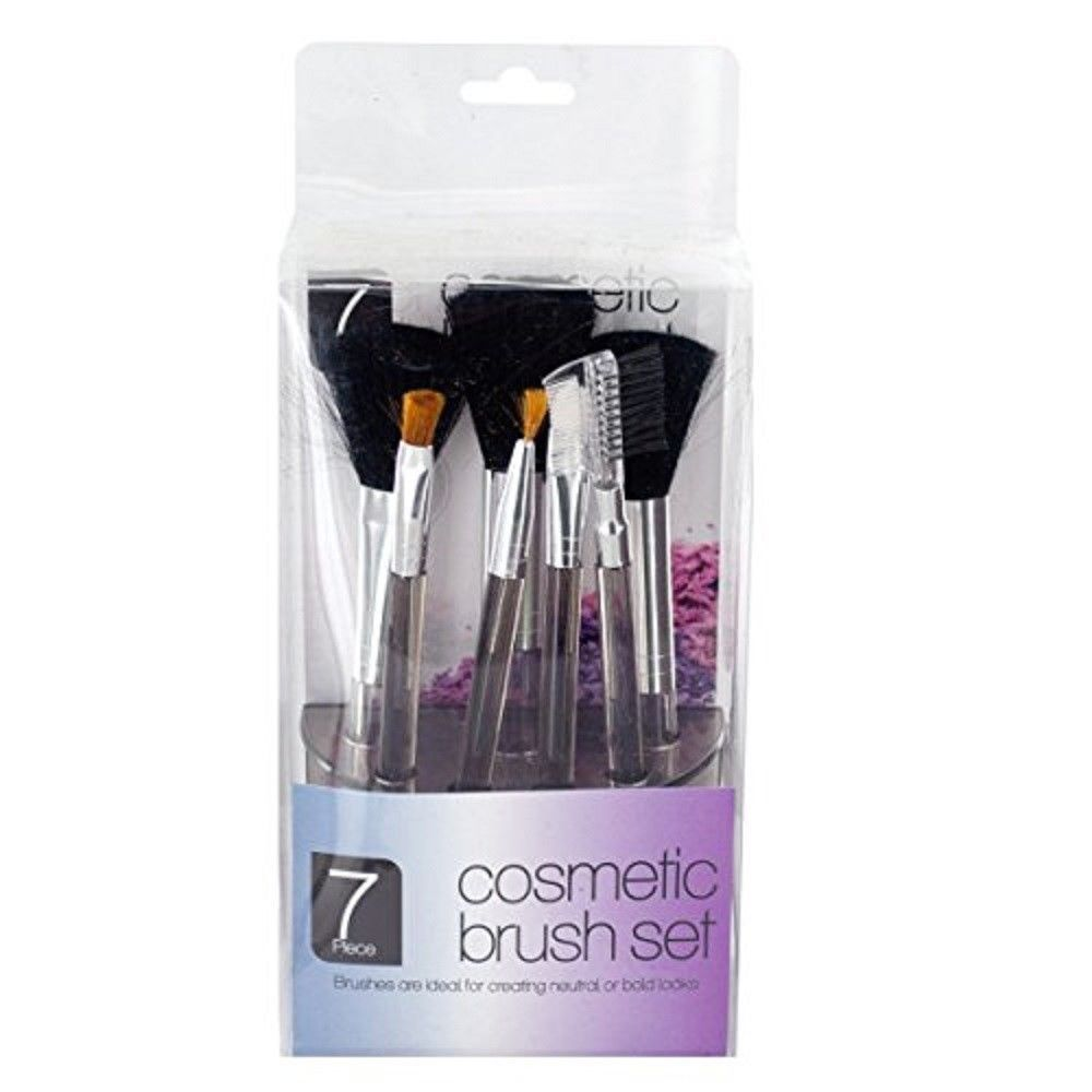 Cosmetic Brush Set in Standing Organizer - 7 Piece