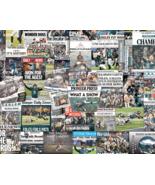 Philadelphia Eagles 2018 Super Bowl Newspaper Headline Collage Print.  - $24.99+