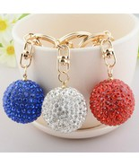 1pcs Keychain Pom Pom Women's Gem Car Key Ring Keychain Balls - $5.50