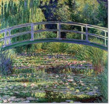Stretched Canvas - Lilies Japanese Bridge Painting Claude Monet Reproduc... - $103.99+