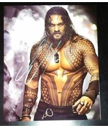 Jason Momoa Hand Signed 8x10 Photo COA Batman VS Superman Aquaman - $120.00