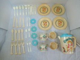 Cabbage Patch Kids vintage doll dishes pitcher plates cups napkin ring lot Italy - $19.79