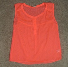 American Eagle Outfitters Sheer Sleeveless Top Shirt Size S Small - $12.19