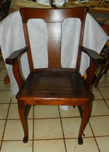 Quartersawn Oak Caned Armchair / Chair   - $399.00