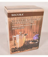 Secura French Press Coffee Maker 34oz Stainless Steel 1 Litre 304 Grade New - $25.74
