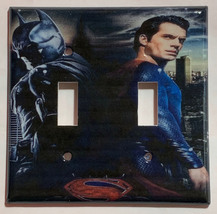 Batman VS Superman Light Switch Power Outlet Duplex wall Cover Plate Home Decor image 4