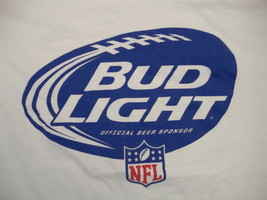 Bud Light Official Beer of NFL Bogey's Sports Pub Football Bar Party T S... - $14.84