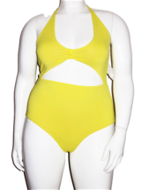 Vicious Young Babes (VYB) Bright Yellow One Piece Swimsuit Size XL