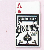Playing cards, Streamline Jumbo Index Playing Cards, 3 Decks, Blue, New - $9.99