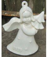 White Porcelain 1979 Goebel Angel Ornament Holding Tree - $12.99