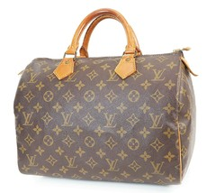 正宗LOUIS VUITTON Speedy 30 Monogram Boston手袋钱包#38284A-$ 385.00