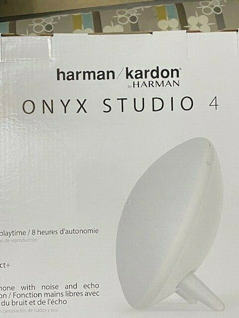 Harman Kardon Onyx Studio 4 Wireless Bluetooth Portable Speaker NEW IN BOX-White