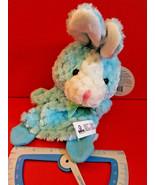 Blue Bunny Hand Puppet Goffa Pastel Handpuppet Pretend Play Soft Plush T... - $4.74