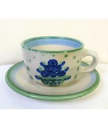 M A Hadley Bouquet Cup and Saucer Stoneware - $11.88