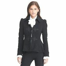 Ralph Lauren Wool Military Victorian jacket blazer,  Black, 14 - $148.49