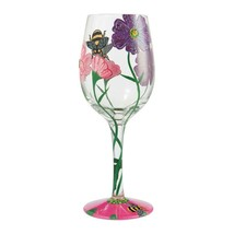 """My Drinking Garden  """"Designs by Lolita"""" Wine Glass 15 o.z. 9"""" High  Gift Boxed"""