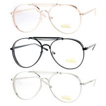 SA106 Vintage Thick Metal Visor Retro Aviator Eye Glasses - $12.95