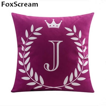 Primary image for Velvet Cushion Covers Gray Decorative Pillows Cases Letter Cushion Cover Home De