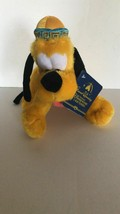 Disney Parks Shanghai Grand Opening 9in Pluto Plush New with Tags - $5.38