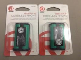 2 of RadioShack 1500mAh 2.4V Ni-MH Cordless Phone Battery 2302485 for Pa... - $7.99
