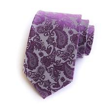 Purple Paisley Jacquard Woven Men's Tie Necktie - $14.49