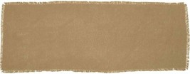 "VHC Brand Natural Burlap Cotton Fringed Table Runner 13"" x 36"" - $14.67"