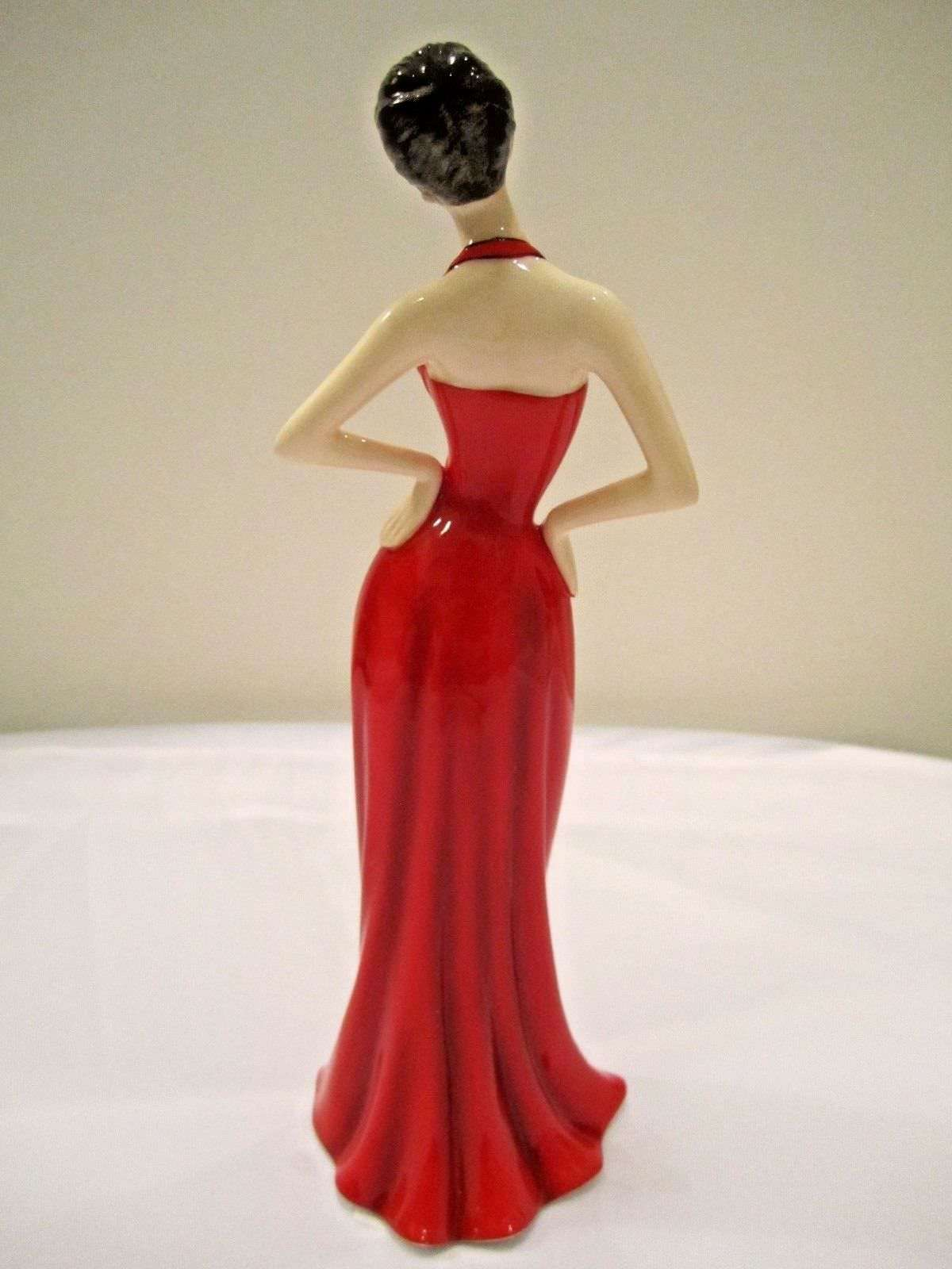 Royal Doulton Yolande Fashion Figurine 1950's Red Ball Gown V & A Museum NEW image 3