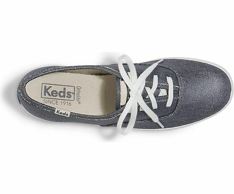 Keds WF58939 Women's Shoes Champion Matte Brushed Metallic Blue, 6.5 Med