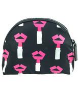 Lulu Guinness Tape Lipstick Make Up Bag Case Travel Pouch Black Lips RRP... - $74.41