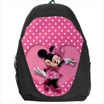 backpack school bag minnie mouse pink polka dots - $39.79