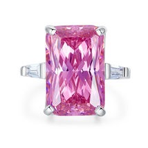 8.5 Ct Pink Created Diamante Solid 925 Sterling Silver Ring Party Luxury... - $139.99