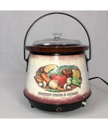 Farberware Country Crock-R-Cooker Slow Cooker Vegetable Design Vintage - $32.93