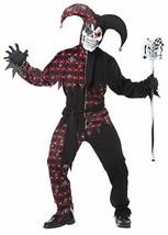 Californie Déguisements Sinister Jester Noir Rouge Adultes Hommes - $36.60