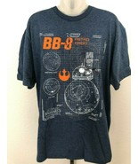 NWT! Mens sz L DISNEY STAR WARS Fifth Sun Blue Heather BB-8 Graphic T shirt - $19.79