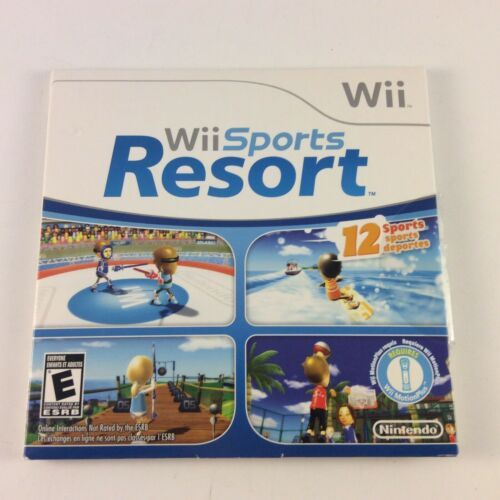 Wii Sports Resort (Wii, 2009) Sleeve and Disc Only RARE Version
