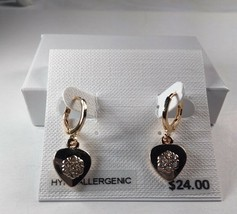 Charter Club Gold Hypo Allergenic Heart Drop Dangle Earrings - New - $11.88