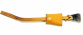 Authentic HERMES Strap Bag Charm Couchevel Leather Yellow Bookmark Vintage - $89.10
