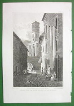 ITALY Rome Remains of Temple of Nerva !! CPT. BATTY Antique Print Engraving - $8.99