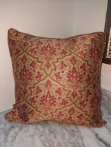 """Ralph Lauren Vintage Langham Paisley 15"""" Square Throw Pillow with Down I... - $39.55"""